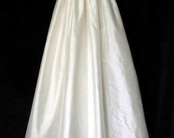 Ivory pure silk Christening gown