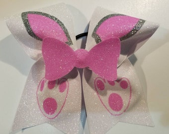 Easter bunny cheer bow