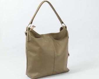 Leder HOBOTASCHE, Kaffee Lederhandtasche, Tasche für jeden Tag Tote, Umhängetasche, Laptop Ledertasche, Ledertasche, Hobotasche, Geschenk für Sie