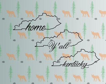 kentucky home svg, home state ky svg files for cricut, silhouette studio files, instant download clip art, cutting template, vector files