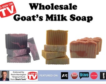 50 Bars of As SEEN ON TV Goat Milk Soap. Shark Tank Endorsed. Wholesale. 18 Scents. Essential Oil, Fragrance Oil and Unscented Bars.