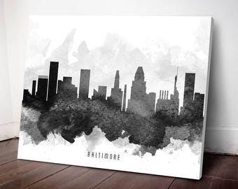 Baltimore Skyline Canvas Print,Baltimore Art, Baltimore Cityscape, Baltimore Art Print, Home Decor, Gift Idea, USMDBA11C