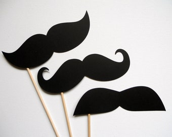 Big Ol' Mustache Photo Booth Props . Giant Mustache Photo Booth Props . Big Mustaches . Giant Mustaches . Photo Booth Props . Set of 3