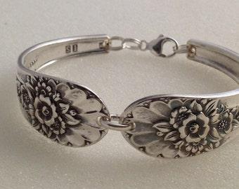 Spoon Bracelet. Jubilee 1953. Wrist Size 6 to 9. Choose Your Size. Vintage Silverplate. Spoon Rings.