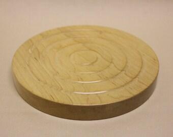 Turned wooden maple trivet