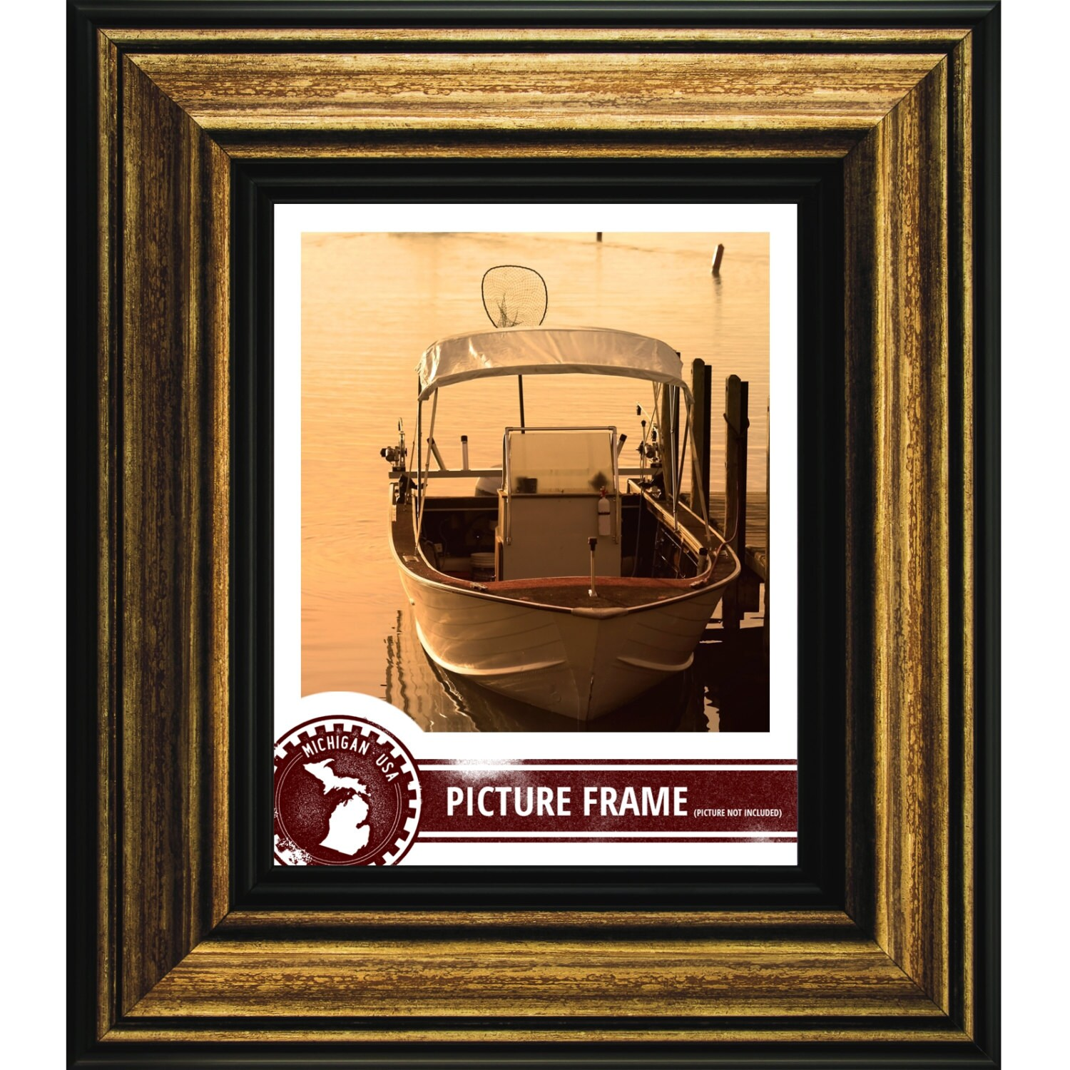 Craig frames 10x13 inch aged gold and black picture frame sonora sold by craigframes jeuxipadfo Image collections