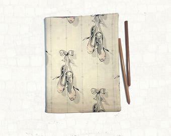 Refillable Journal Cover - Ballet Journal - Composition Book Cover -Handmade Ballerina