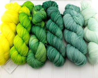 Fade Kits - Plush Fingering - Greens