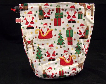 Sock wedge size only. Santa and rudolph project bag