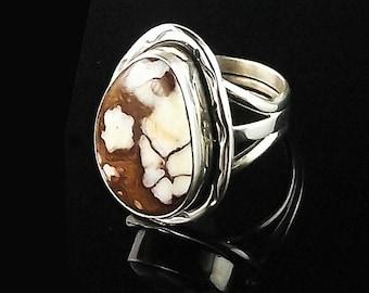 Navajo Wild Horse Magnesite Ring