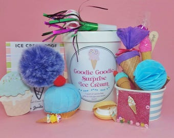 Ice cream birthday - ice cream gifts - ice cream surprise - surprise balls - gift set - ice cream party - ice cream favors - birthday gifts