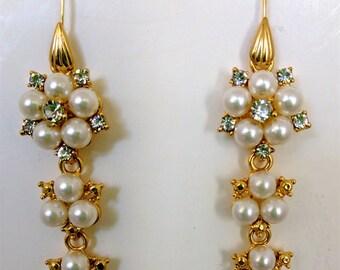 Renaissance Earrings, Bridal Earrings, Tudor Earrings, Medieval Earrings, Renaissance Jewelry, Tudor Jewelry, Earrings for Necklace