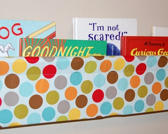 Livre Sling enfants - Riley Blake chiot parc Multi Dots bleu - 47 pouces