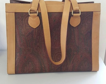 Original Etro classic paisley bag large size vtg