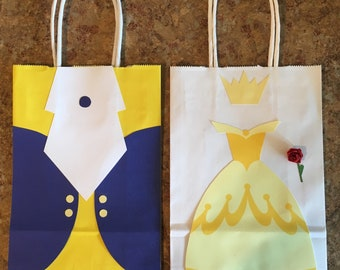 Beauty and the beast goodie bags