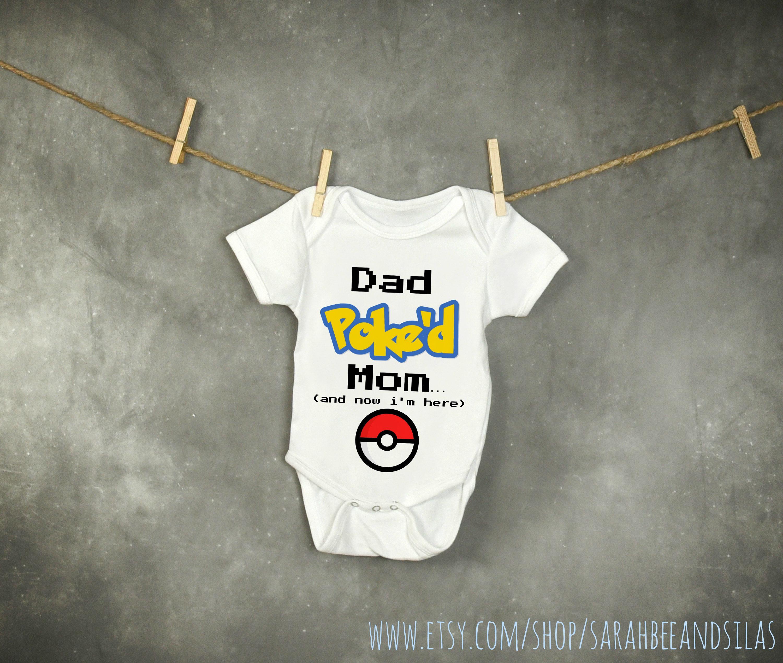 Pokemon Funny Baby esie Toddler Kid Shirt Gamer Baby