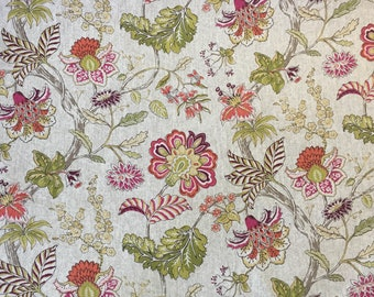 Mandarin Garden - Kiwi - Upholstery Fabric by The Yard