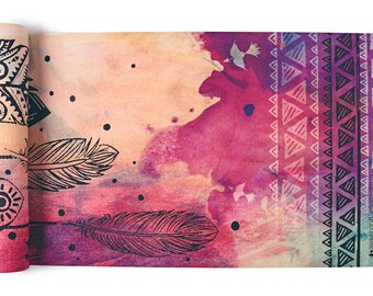 Dream Weaver Yoga Mat-yoga- printed yoga mat- tribal yoga mat- dream catcher- tie dye- boho-feathers- yoga mat