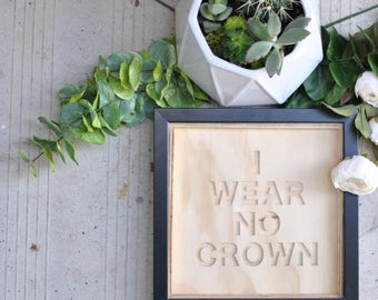 plywood carved sign + frame | city and colour | dallas green | song lyrics | crown