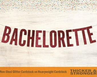 Bachelorette Banner, Block Letters - Bachelorette Party, Bridal Shower Banner, Bachelorette Decor, Bridal Shower, Engagement Party