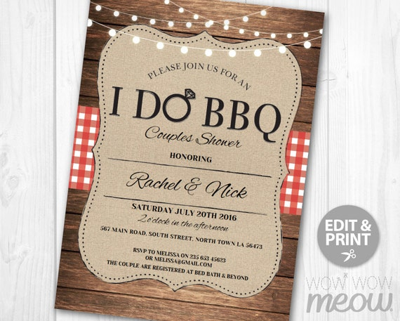 I Do BBQ Invitation