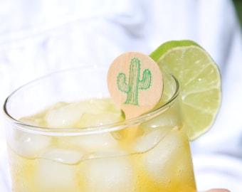 Saguaro Cactus Drink Stirrers