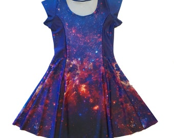 Galaxy Princess Seam Dress ~ Actual Space Image ~ Printed Spandex Milky Way