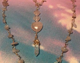 Rose Quartz Love Necklace
