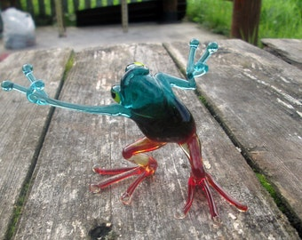 Glass Frog Hand Made, Blown Tree Frog