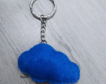 Keychain Felt Cloud