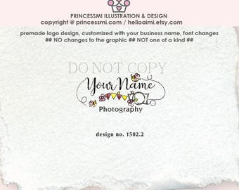 1502-2   photography branding, camera and bee, photography logo,  logo branding, camera art, camera graphic, watermark, cute camera