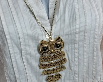 Designer Bronze owl pendant with chain CK112