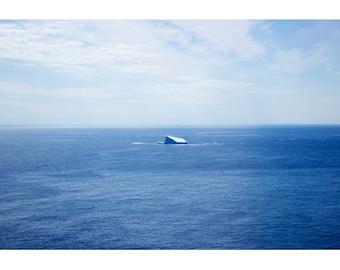 Newfoundland Art, Minimalist Art, Ocean Art, Iceberg Photography, Blue Art, Seascapes, Large Art Prints, Fine Art Photography, Water Art