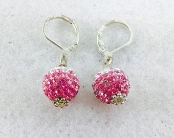 Shamballa Dangle Earrings, Swarovski Crystal Earrings, Crystal Ball Earrings, Disco Ball Earrings, Basketball Wives Earrings