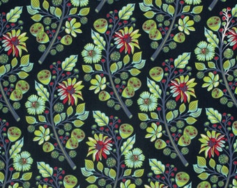 Sprout in Midnight  PWTP-056 - MOON SHINE by Tula Pink - Free Spirit Fabric - By the Yard