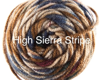 Hobby Lobby I Love This Yarn - HIGH SIERRA STRIPES Print - Brand New Skein 5.99 - 100% Acrylic - Worsted Weight - Crochet - Knit - Amigurumi