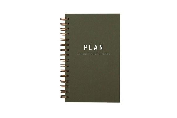 simple plan weekly planner journal agenda desk planner
