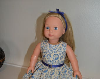 Where The Wild Things Are dress, belt and headband for 18 inch doll