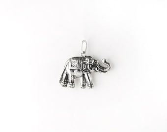 Indian Elephant Sterling Silver Charm/Pendant