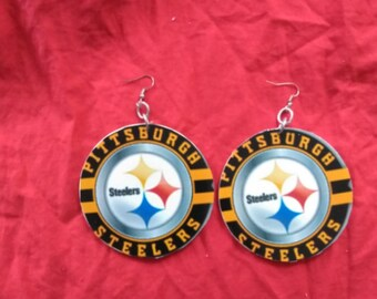 steelers earrings large