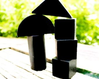Chalkboard Blocks, Kids' Building Set of Variety of Six