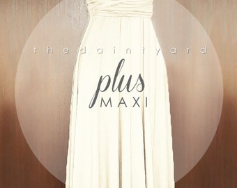 MAXI Plus Size Champagne Bridesmaid Dress Convertible Dress Infinity Dress Multiway Dress Wrap Dress Prom Dress Wedding Dress Long Dress