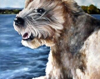 Custom Pet Portrait, Dog Portrait, Animal Art, Custom Paintings, Oil Painting, 16x20