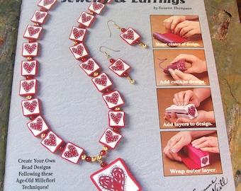 Folk-Art Beads ~ 36 Fun Clay Projects ~ Millefiori Design Beads for Jewelry Making - Design Originals #3029, 1995