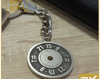 Keychain crossfit gift Crossfitter Weight plate  WOD  cross fit athlete gift women men Burpees Kettlebell key сhain