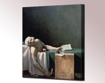 Death of Marat French Revolution Jacques Louis David Canvas Wall Art Print Fine Art Print Home Decor Ready To Hang