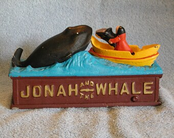 Cast Iron Bank - Jonah and the Whale