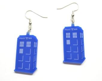 Dr. Who TARDIS inspired Earrings