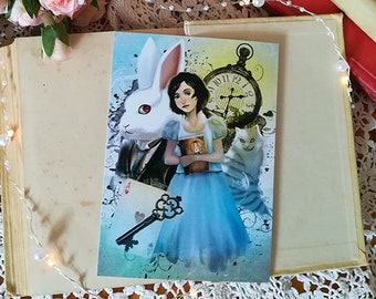 Alice Liddell card - Digital Illustration printed on paper