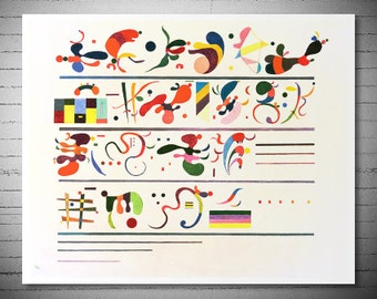Wassily Kandinsky Succession, 1935 - Poster Print, Sticker or Canvas Print / Gift Idea